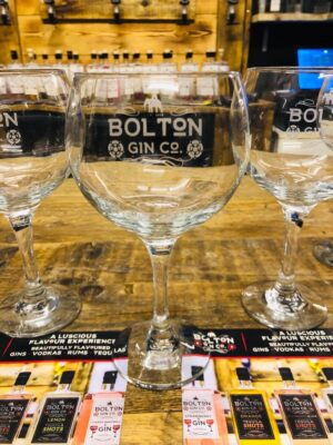 The Bolton Gin Company Etched Gin Glass