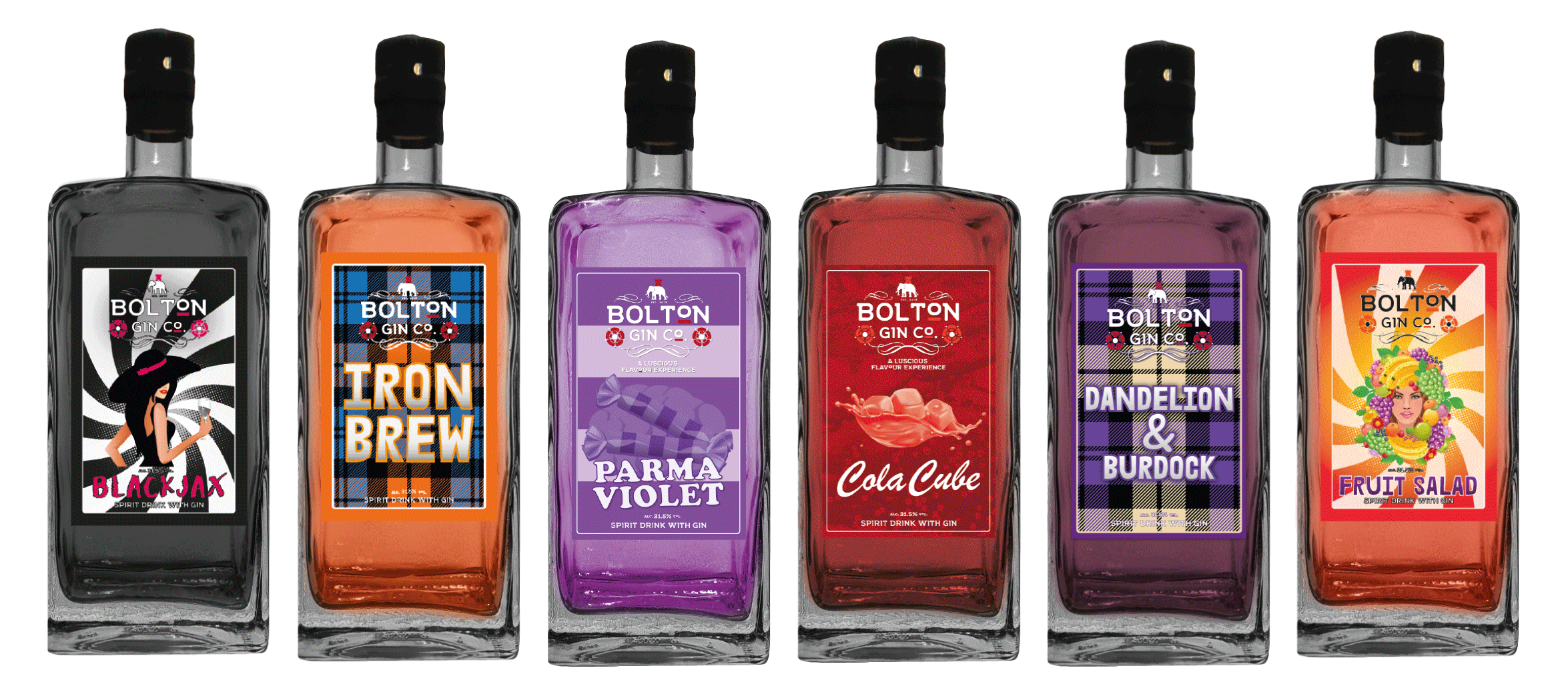 The Bolton Gin Company Flavoured Gins - Buy Flavoured Gin Online